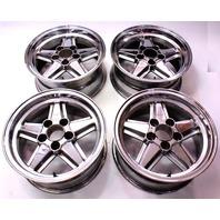 """5x120 Ronal R9 Penta Wheels Rims For BMW 16"""" x 7"""" ET23 Chrome - NICE E36 E28"""
