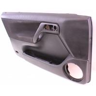 LH Driver Front Interior Door Panel 99.5-02 VW Cabrio MK3.5 - Black