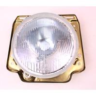 "NOS 7"" H4 Euro Headlight Light Lamp 85-92 VW Jetta Golf GTI Dual Round - Neolite"