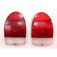 Tail Brake Light Lamp Set 68-70 VW Beetle - Genuine Hella