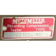 VW Special Tool MotorMeter Diesel Compression Tester Recorder Rabbit Jetta MK1