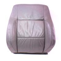 RH Front Sport Seat Back Rest & Cover 02-05 VW Jetta GLI GTI MK4 - Grey Leather