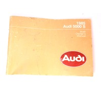 Owners Manual Book 1985 Audi 5000 S - Genuine