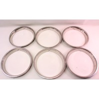 "6x Chrome Wheel Rim Beauty Trim Ring VW Audi 13"" - Genuine"
