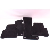Complete Floor Mat Carpet Set 06-10 VW Passat B6 Black - Genuine - 3C1 863 011 A