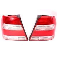 White Striped Taillight Tail Lamp Set Pair 99-05 VW Jetta Sedan Mk4 1JM 945 096