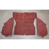 Rear Hatch Trunk Floor & Side Carpet 81-84 VW Rabbit GTI MK1 - Red - Genuine