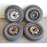 "13"" x 4.5"" Steel Wheel Rim Set 4x100 VW Jetta Rabbit Pickup MK1 With Tires"