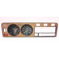 Early Dash Gauge Cluster Speedometer Wood Trim Panel 75-80 VW Rabbit MK1