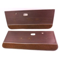 Front Brown Door Card Side Panels 75-84 VW Rabbit Mk1 2 Door - Genuine