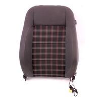 LH Front Seat Back Rest 05-10 VW Rabbit GTI Jetta MK5 - Interlagos Sport Plaid