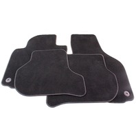 Floor Mats Set 06-09 VW Rabbit GTI MK5 - Black Carpet - Genuine - 1K1 863 011 M