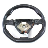 Jetta Rabbit GTI GLI Perforated Sports Steering Wheel Black Leather 05-10 VW MK5