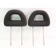 Front Donut Headrests 98-05 VW New Beetle Head Rests - Black Cloth - Genuine