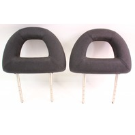 Rear Donut Headrests 98-05 VW New Beetle Head Rests - Black Cloth - Genuine
