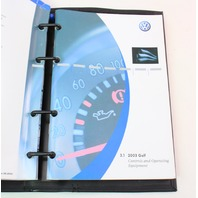 2003 Volkswagen Golf Owners Manual Book Booklet VW Mk4 - Genuine