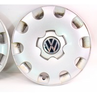 "2 Genuine Hubcap Hub Cap Wheel Cover 15"" 99-05 VW Jetta Golf MK4 - 1C0 601 147 L"