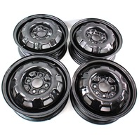 "13"" x 4.5"" Steel Wheel Rim Set 4x100 VW Jetta Golf Rabbit Pickup MK1 MK2 Genuine"