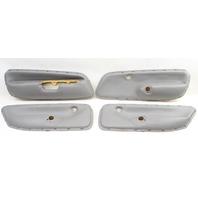 Set Of 4 Grey Leather Door Panel Inserts 99-05 VW Jetta Golf MK4 ~ Genuine