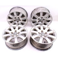 "15"" Wheel Set Stock Alloy Aluminum Rims 98-05 VW Passat 5x112 - 3B0 601 025 K"
