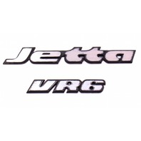 Trunk Emblems Badges 95-99 VW Jetta VR6 MK3 - Genuine - 535 853 675 B