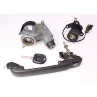 Ignition Door Handle Lock & Key Set 93-99 VW Jetta MK3 - Genuine - 357 905 851