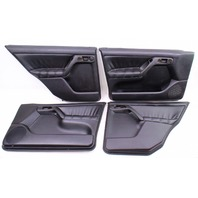 Black Leather Door Panel Card Set 93-99 VW Jetta GLX Golf  - Genuine