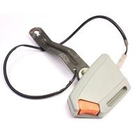 LH Front Seat Belt Receiver 81-84 VW Rabbit GTI MK1 Grey - Genuine - 171 857 755