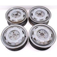 "13"" x 4"" Steel Wheel Rim Set 4x100 VW Jetta Golf Rabbit Pickup MK1 MK2 - Genuine"