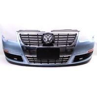 Genuine Front Bumper Cover 06-10 VW Passat B6 LB5M Arctic Blue - 3C0 807 221 A