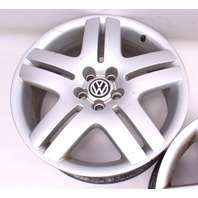 "17"" Wheel Set Long Beach Alloy Rim 99-05 VW Jetta Golf GTI MK4 - 5x100 Stock"