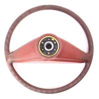 Red LS Padded Steering Wheel VW Rabbit Jetta Pickup MK1 - Genuine