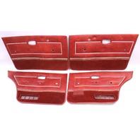Interior Door Card Panel Full Set VW Rabbit MK1 4 Door  - Genuine - Red