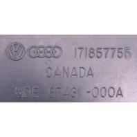 LH Front Seat Belt Receiver 81-84 VW Rabbit GTI MK1 Blue - Genuine - 171 857 755