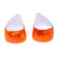 Fender Turn Signal Light Lens Set 70-79 VW Super Beetle Aircooled - Hella
