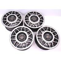 "14"" Snow Flake Wheels Rims Set 4x100 75-84 VW Rabbit Jetta MK1 - 171 601 025 H"