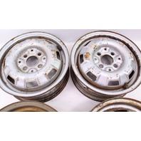"""13"""" x 4.5"""" Steel Wheel Rim Set 4x100 VW Jetta Rabbit Pickup MK1 - 175 601 025 B"""