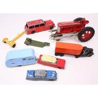Vintage Tootsie Toy Metal Cars Tractor Hublex Kiddie Packard Ford Country Sedan