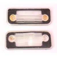 Rear License Plate Light Lens Covers 93-99 VW Jetta MK3 - Genuine