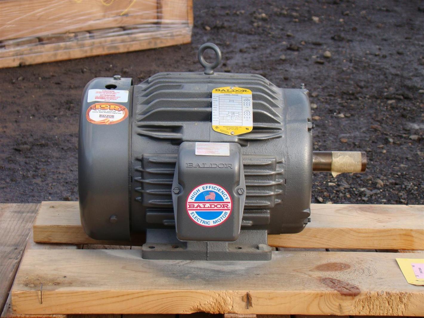 Baldor industrial motor 7 1 2hp 230 460v 18 2 9 1a 3450rpm Baldor industrial motor pump