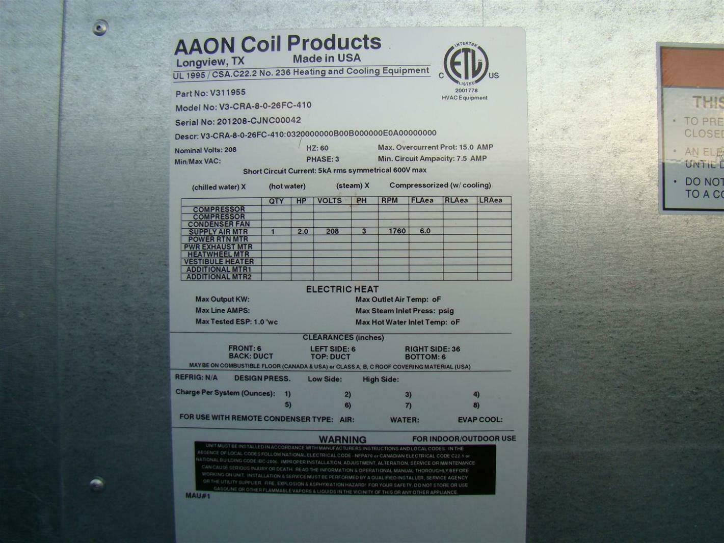 Hvac new: Aaon Hvac Aaon Wiring Diagrams on