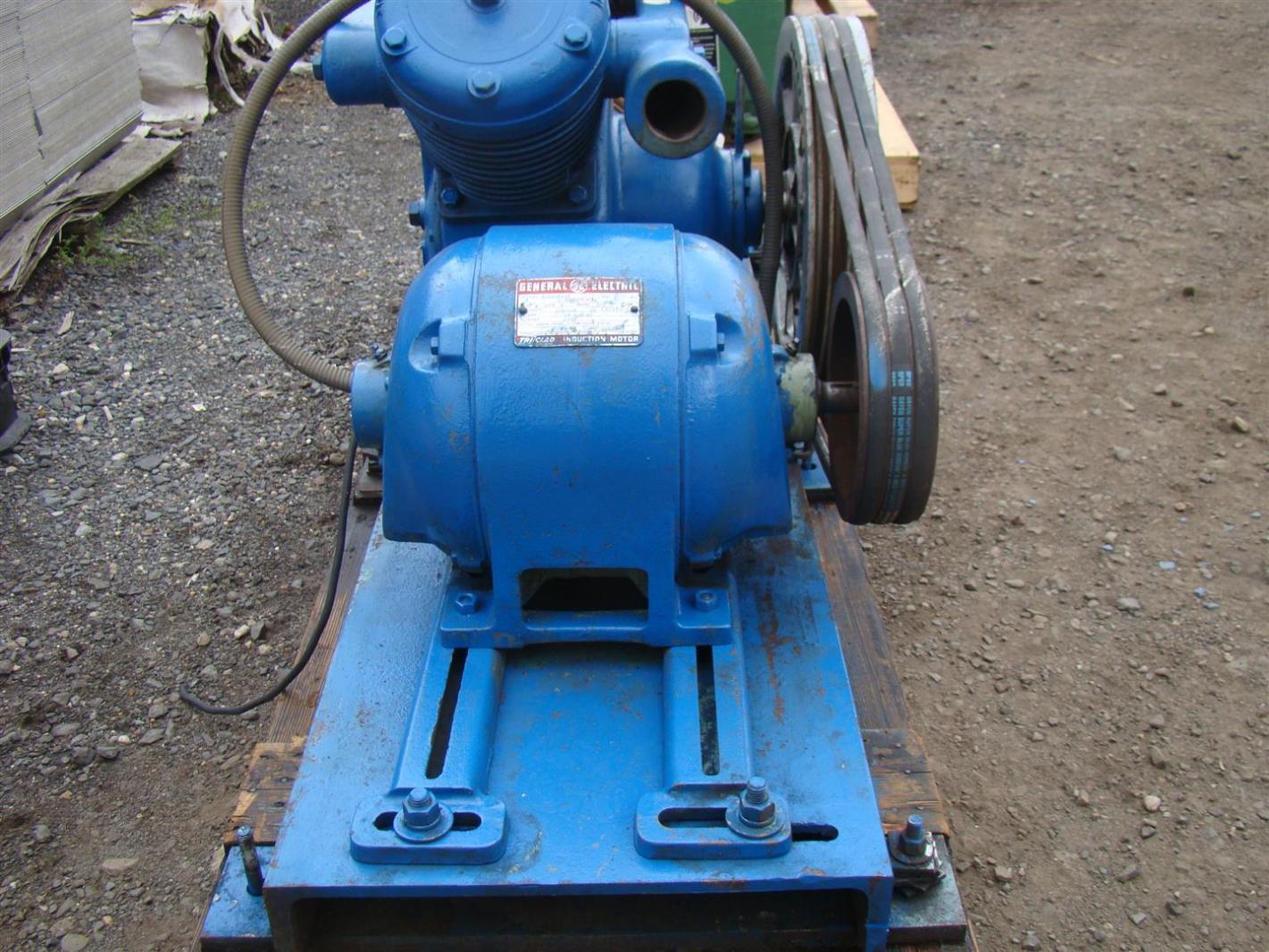 skid mount air compressor model k40at ge 5hp motor 220440v