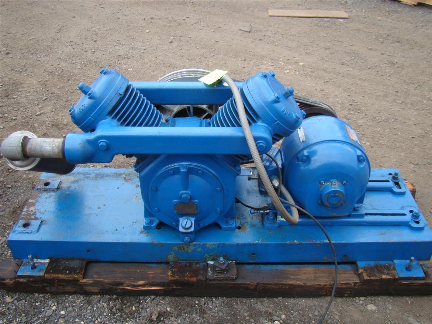 Kellogg American Skid Mount Air Compressor Model K40at Ge
