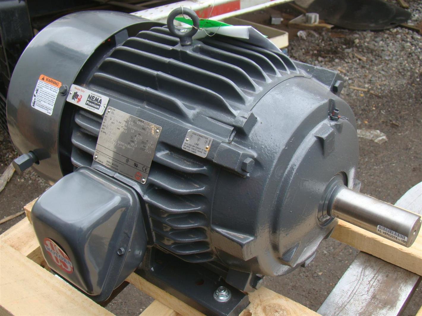 Us motors nidec 3 phase electric motor 5 hp 885 rpm model for Electric motor 100 hp