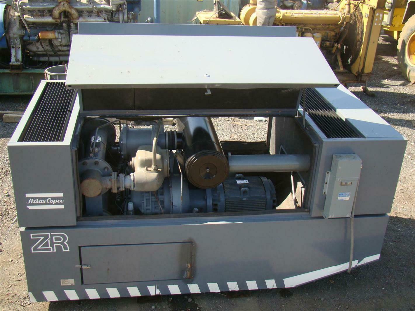 Atlas Copco 60hp Rotary Screw Compressor 45 048hrs Zr245