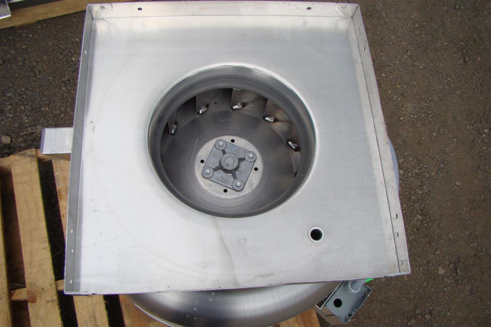 Greenheck 1 3 hp belt driven roof mounted exhaust fan cube for 1 3 hp attic fan motor
