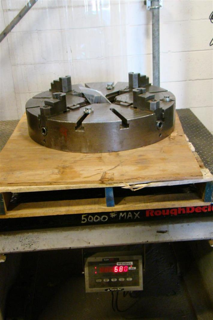 """28"""" 4 Jaw Independent Lathe Chuck Steel Body"""