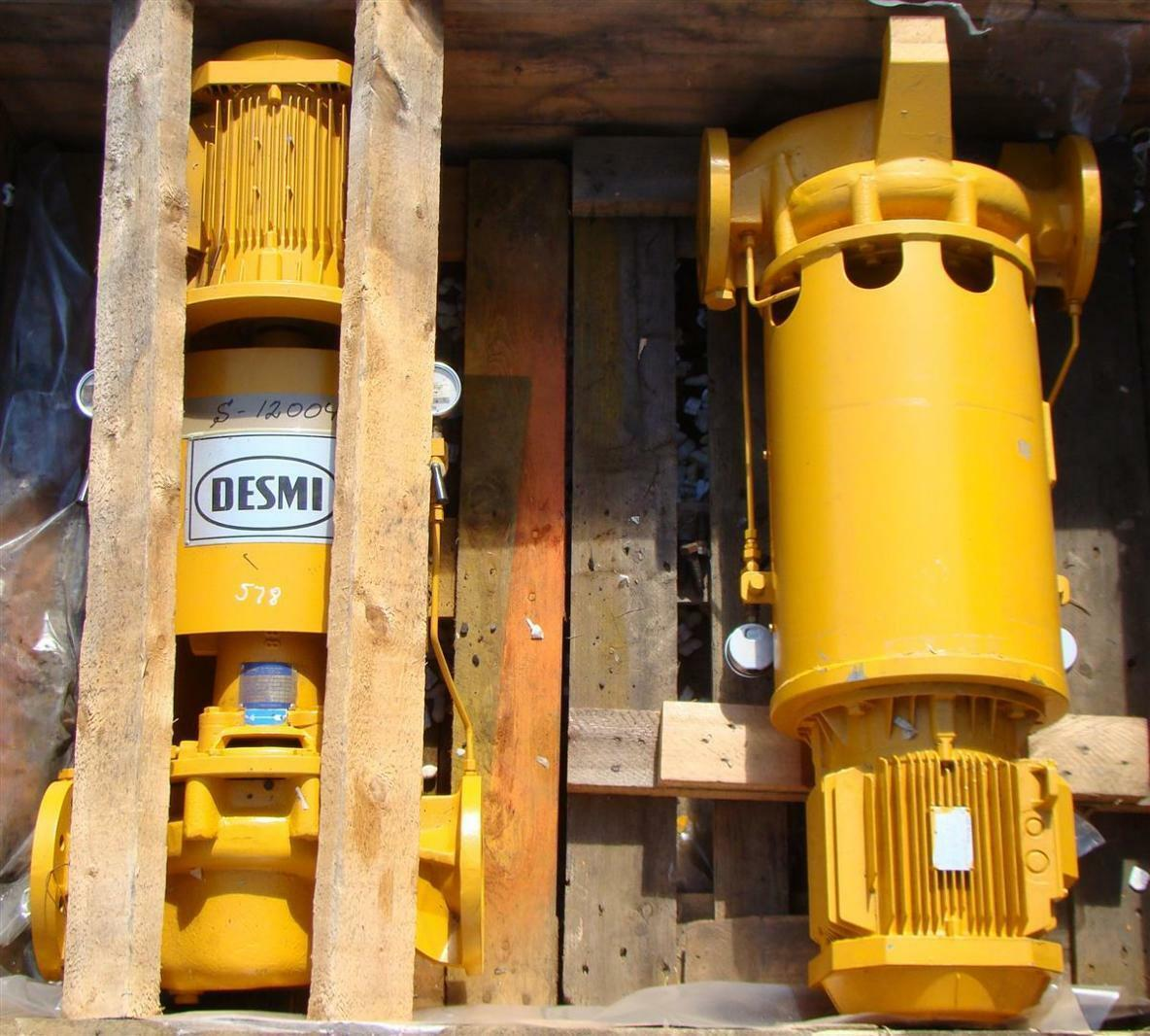 Desmi 3 Phase 6.4 KW Vertical Centrifugal Pump Type SL80-215/A-B | eBay