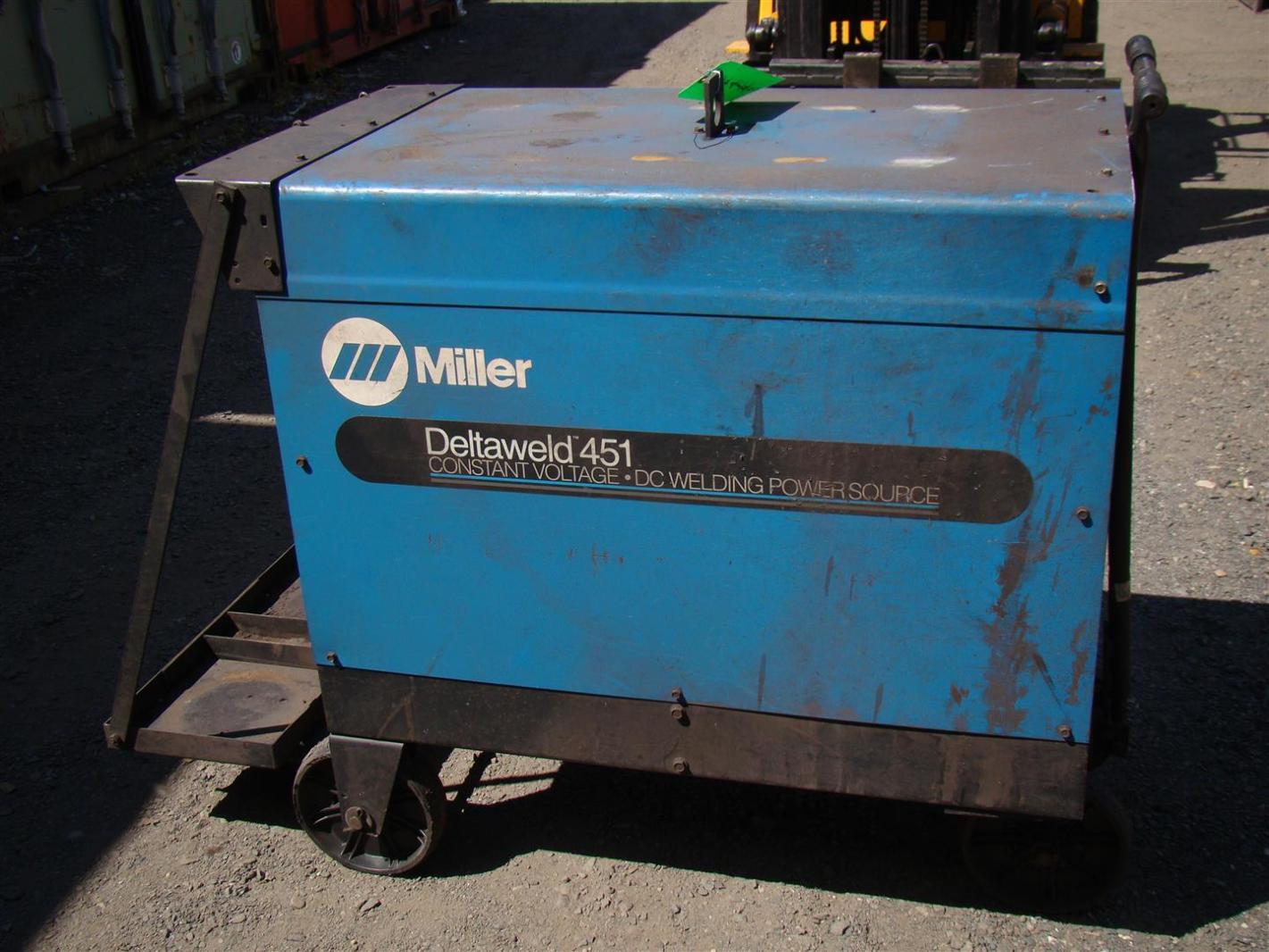 miller deltaweld dc arc welder cv v ph w remote sku 11416