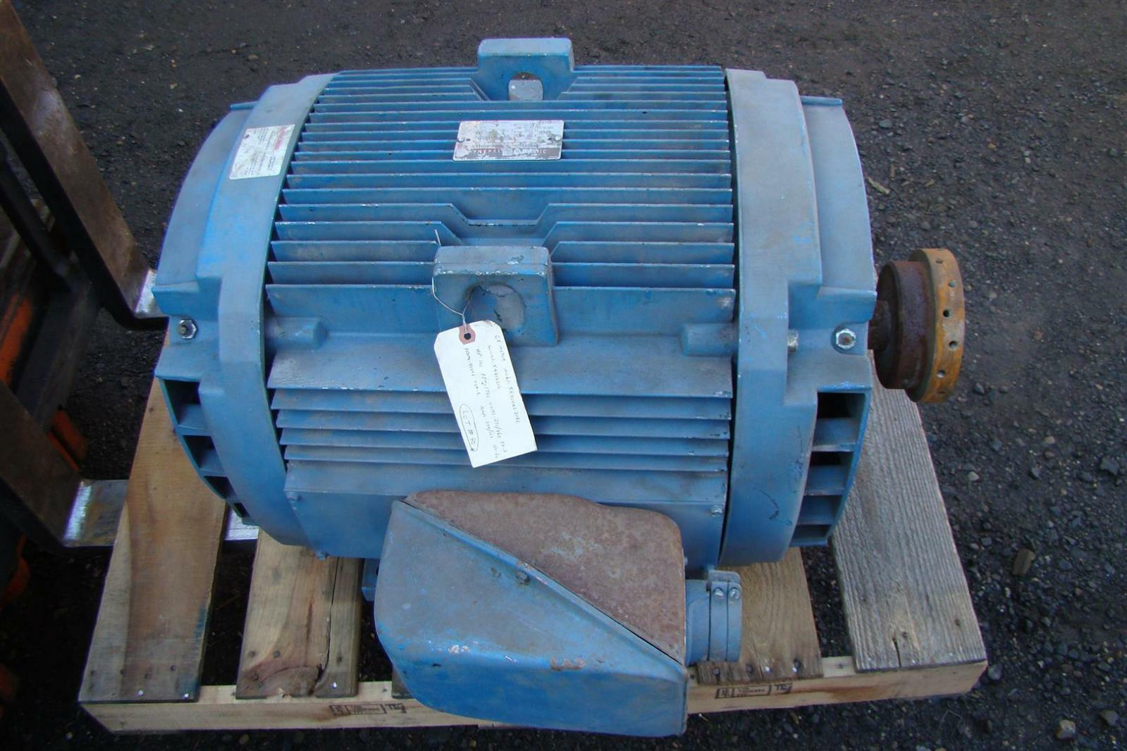 General electric 100hp 3 phase 230 460 volt electric motor for Electric motor 100 hp